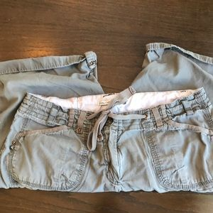 Dalia Collection Olive Boho/Hiking Shorts, sz 8!